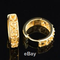 100% Natural 4mm Citrine Golden Gemstone Aaa++ Yellow Gold & Silver 925 Earring