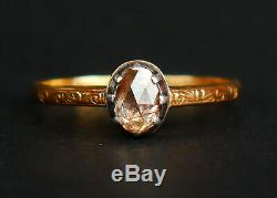 1939 Nordic Ring 0.7ct. Diamond solid 18K Yellow Gold Silver Ø US9.25/ 2.6 gr