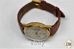 1940 Vintage Military LE PHARE Chronograph Landeron 248 17j Gold Top Men Watch