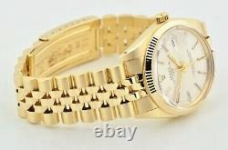 1979 Mint Vintage Rolex Date 14k Yellow Gold Silver Dial 1500 34mm Watch