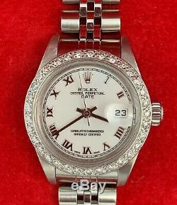 2004 Rolex 26mm Date 79240 Ladies Diamond S. S. Quickset Jubilee White Datejust