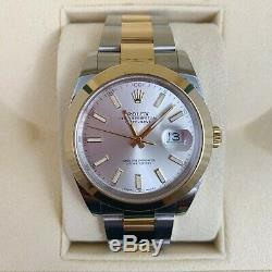 2019 Rolex Datejust 41mm 18k Yellow Gold Mens Oyster Bracelet II Watch 126303