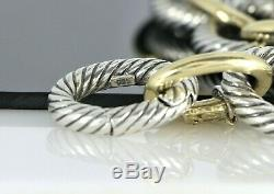 $4450 David Yurman Solid 18K Yellow Gold Silver 18mm Oval Chain Bracelet 6.25