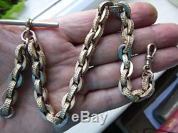 Absolutely stunning and RARE English Victorian 12 ct Gold ALBERT WATCH CHAIN