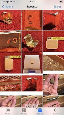 Antique 19th C French 18ct Yellow Gold Rare Vinaigrette Box Case Form Of Pendant