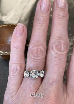 Antique Art Deco 9ct Yellow and Gold Silver Paste Diamond Ring UK J 1/2
