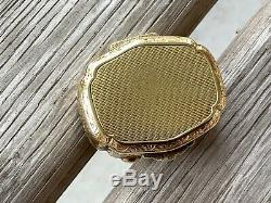Antique Victorian Collectible 14k Yellow Gold Box Pill Box