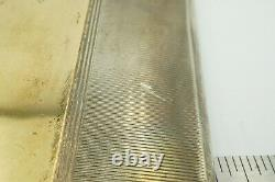 Antique Vintage RB&Co Sterling Silver And 14k Yellow Gold Inlay Cigarette Case