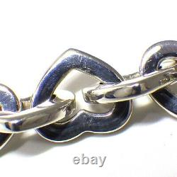 Auth Tiffany & Co. Bracelet Heart Link 750(18K) Yellow Gold Silver 925