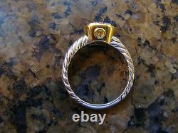 Authentic David Yurman Noblesse DIAMOND 18K Yellow Gold & Silver Stack Ring