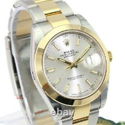 Authentic Rolex Datejust 126303 2Tone Steel & Yellow Gold Silver Dial -Unworn