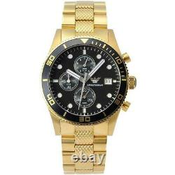 Brand New Genuine Emporio Armani Ar5857 Gold Stainless Steel Mens Watch Rrp £399