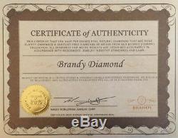 Brandy Diamond Chocolate Brown 18K Yellow Gold Silver Diva Jaguar Cat Ring 1 Ct