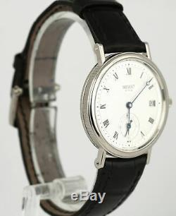 Breguet Classique No. 5154 18K White Gold Silver Leather Ref. 5920 34mm Watch