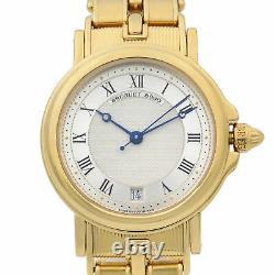 Breguet Marine 18K Yellow Gold Silver Dial Automatic Mens Watch 5800BA/12/A90