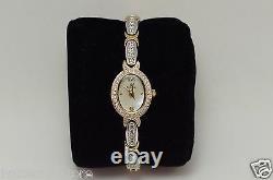 Bulova 98L005 Women's Crystal Accented Two Tone Gold & Silver Quartz A8 Watch