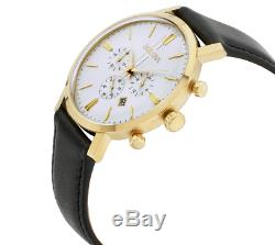 Bulova Classic Men's Quartz Chronograph Gold Tone Case 41mm Watch 97B155
