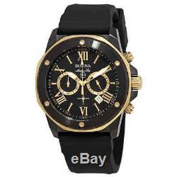 Bulova Marine Star Chronograph Black Dial Men's Watch 98B278