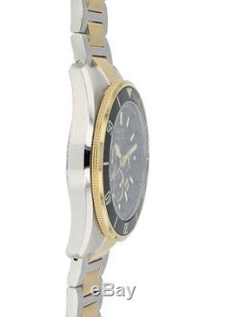 Bulova Marine Star Men's 98B249 Chronograph Black Dial Two-Tone 43mm Watch