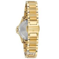 Bulova Marine Star Women's Diamond Accents Gold-Tone Bracelet 32mm Watch 98R235