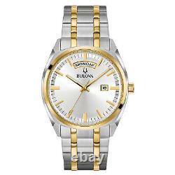 Bulova Men's 98C127 Quartz Yellow Gold and Silver-Tone Bracelet 39mm Watch
