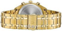 Bulova Men's Quartz Chronograph Gold-Tone Bracelet 42mm Watch 97C109