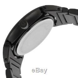 Bulova Men's Quartz Diamond Accents Black Bracelet 40mm Watch 98D121