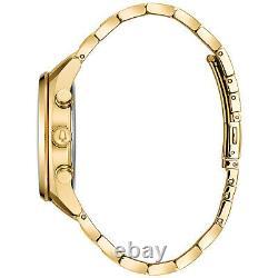 Bulova Men's Surveyor Chronograph Silver-Tone Dial Bracelet 42mm Watch 97C109