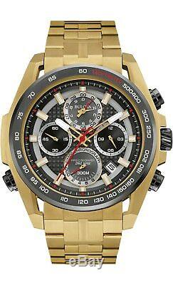 Bulova Precisionist Men's UHF Quartz Chronograph Gold-Tone 48mm Watch 98B271