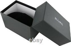 Bulova Sutton Men's Quartz Chronograph Green Dial Leather Band 44mm Watch 96B310