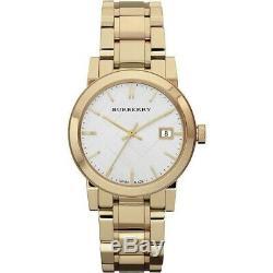 Burberry Women's Swiss Gold-Tone Stainless Steel Bracelet 34mm BU9103 Watch