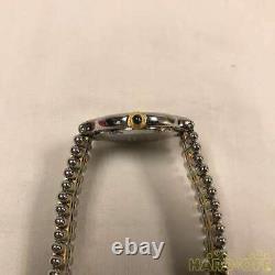 CARTIER Must 21 Gold Silver Dial Belt Ref 1340 Steel Quartz Watch Used