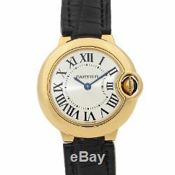 Cartier Ballon Bleu 18k Yellow Gold Silver Dial Quartz Ladies Watch W6900156