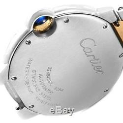 Cartier Ballon Bleu Steel Gold Silver Dial Quartz Unisex Watch W2BB0012