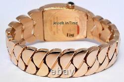 Cartier La Dona 18k Rose Gold Silver Roman Dial Ladies Large Quartz Watch 2896