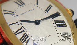 Cartier Paris 18k Yellow Gold Silver Roman Dial Ladies Manual Winding Watch