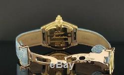 Cartier Roadster Ladies Ref. 2676 18K Yellow Gold / Silver Roman Dial Quartz