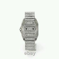 Cartier Santos 100XL Watch Fully Iced Out 26 Carat Diamonds Best Price ASAAR