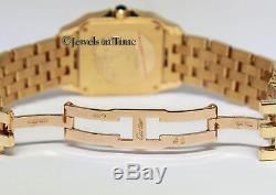 Cartier Santos Demoiselle 18k Yellow Gold Silver Dial Midsize Ladies Watch 2702
