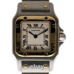 Cartier Santos Galbee 24mm Ladies W20012C4 Steel Gold Silver 2YrWarranty #I2251