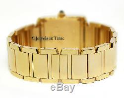 Cartier Tank Francaise 18k Yellow Gold Silver Dial Ladies Midsize Watch 1821