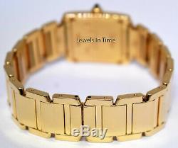Cartier Tank Francaise 18k Yellow Gold Silver Dial Ladies Quartz Watch 1820