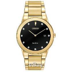 Citizen Eco-Drive Axiom Men's Diamond Accents Gold-Tone 40mm Watch AU1062-56G