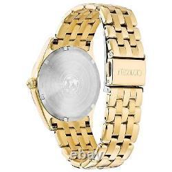 Citizen Eco-Drive Corso Women's Textured Dial Gold-Tone 36mm Watch EV1032-51D