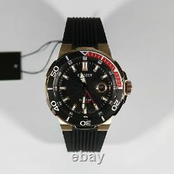 Citizen Eco Drive Rose Gold Tone Black Dial Men's Watch AW1422-09E
