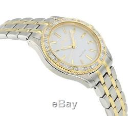 Citizen Eco-Drive Women's Carina Diamond Bezel Two Tone 29mm Watch EM0244-55A