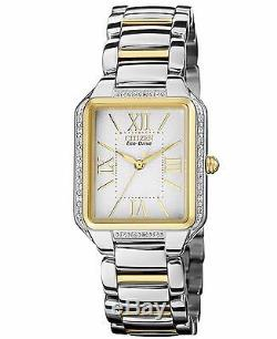 Citizen Eco-Drive Women's EM0194-51A Diamond Bezel Two Tone Watch
