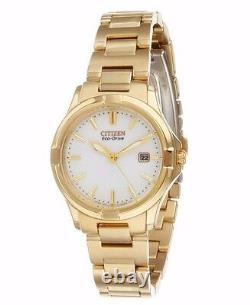 Citizen Eco-Drive Women's EW1962-53A Silhouette Gold Tone Bracelet 28mm Watch