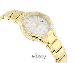 Citizen Eco-Drive Women's Riva Diamond Accents Gold-Tone 30mm Watch EW2462-51A