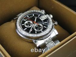 Custom Mens 6.0Ct Diamond 101G Gucci Ya101338 Stainless Steel Watch